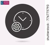 settings   outline icon.... | Shutterstock .eps vector #776775793