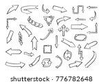 set of hand drawn arrows.vector ... | Shutterstock .eps vector #776782648