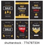christmas sale banner template... | Shutterstock .eps vector #776787334
