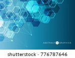 geometric abstract background... | Shutterstock .eps vector #776787646