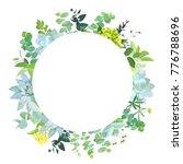 herbal mix vector round frame.... | Shutterstock .eps vector #776788696