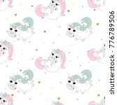 seamless pattern with romantic... | Shutterstock .eps vector #776789506