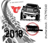 different off road elements... | Shutterstock .eps vector #776790160