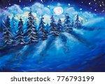 Full Moon Rising Above Winter...
