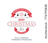 christmas card with typography... | Shutterstock .eps vector #776793838