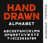 hand drawn alphabet font.... | Shutterstock .eps vector #776794510