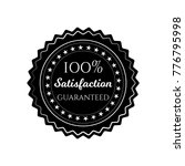 satisfaction guaranteed circle... | Shutterstock .eps vector #776795998