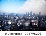 london on a cold winter day... | Shutterstock . vector #776796208