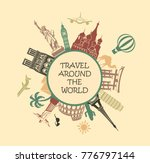 symbol of travelling with the... | Shutterstock .eps vector #776797144