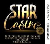 vector sparkling banner star... | Shutterstock .eps vector #776798440