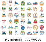big set of camping  hiking ... | Shutterstock .eps vector #776799808