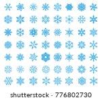 vector winter snow icon set.... | Shutterstock .eps vector #776802730
