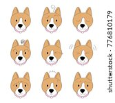 actions cartoon cute brown dog... | Shutterstock .eps vector #776810179