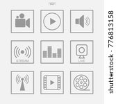 media icon set of video  video... | Shutterstock .eps vector #776813158