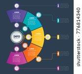 vector infographic of... | Shutterstock .eps vector #776814340
