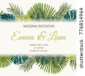 wedding marriage event rsvp... | Shutterstock .eps vector #776814964