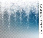 snowfall for your winter design ... | Shutterstock .eps vector #776815999