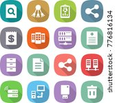 flat vector icon set   search... | Shutterstock .eps vector #776816134