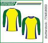 rash guard custom design brazil ... | Shutterstock .eps vector #776818003