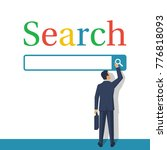 searching concept. modern... | Shutterstock .eps vector #776818093