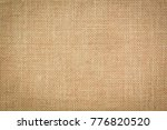burlap texture background | Shutterstock . vector #776820520