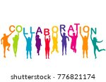 men and women colorful... | Shutterstock . vector #776821174