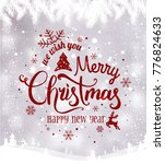 merry christmas and new year... | Shutterstock .eps vector #776824633