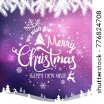merry christmas and new year... | Shutterstock .eps vector #776824708
