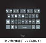 modern keyboard of smartphone....