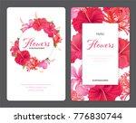 beautiful hibiscus flowers on... | Shutterstock .eps vector #776830744