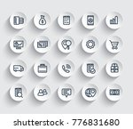 business  commerce icons set ...