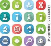 flat vector icon set   hex... | Shutterstock .eps vector #776833654