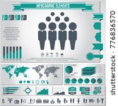 human resources icon set and... | Shutterstock .eps vector #776836570