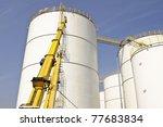 oil   tanks - stock photo
