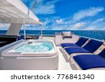 Sunny Aft Deck Of A Large ...