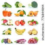 fruit fruits and vegetables... | Shutterstock . vector #776844844