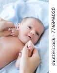 cute newborn baby hold mother... | Shutterstock . vector #776846020