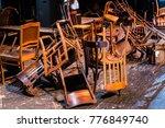 old broken furniture. a pile of ... | Shutterstock . vector #776849740