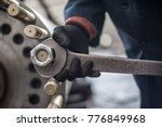 mechanic repairman at the... | Shutterstock . vector #776849968