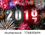counter changing year 2017 to... | Shutterstock . vector #776850694