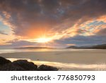 view on horgabost beach on the... | Shutterstock . vector #776850793