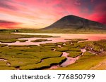 ceapabhal hill and tital inlets ... | Shutterstock . vector #776850799