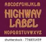 highway label typeface. retro... | Shutterstock .eps vector #776851459