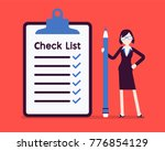 giant check list. young... | Shutterstock .eps vector #776854129