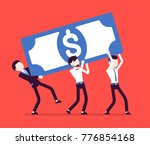 weight of capital. young...   Shutterstock .eps vector #776854168