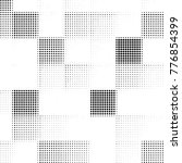 grunge halftone black and white ... | Shutterstock .eps vector #776854399