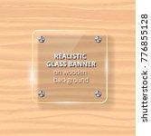 transparent glass plate mock up.... | Shutterstock .eps vector #776855128
