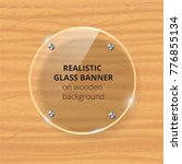 transparent glass plate mock up.... | Shutterstock .eps vector #776855134