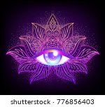 sacred geometry symbol with all ... | Shutterstock .eps vector #776856403