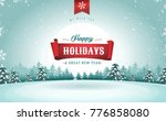happy holidays greeting card ... | Shutterstock .eps vector #776858080